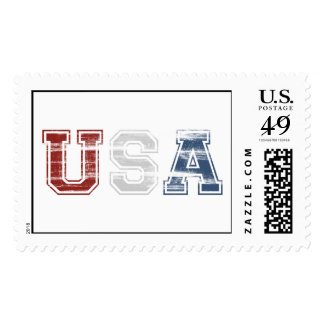 USA Distressed Postage Stamps