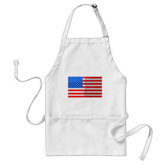 USA divided and stitched back up Adult Apron