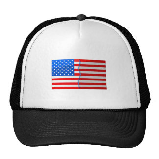 USA divided and stitched back up Trucker Hat