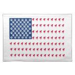 USA Dog Flag Place Mat
