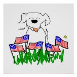 USA Dog Poster