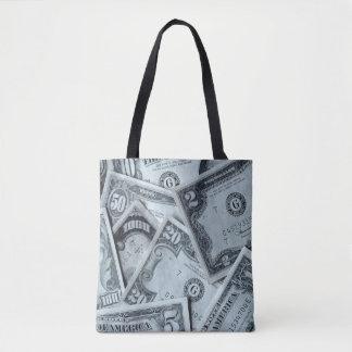USA Dollar image for All-Over-Print Tote Bag