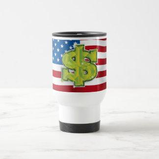USA Dollar Travel Mug