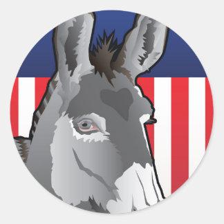 USA Donkey, Democrat Pride Classic Round Sticker