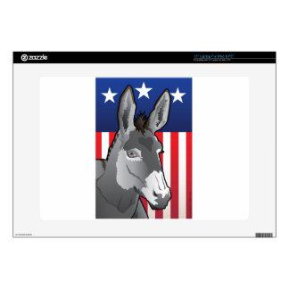 "USA Donkey, Democrat Pride Decal For 15"" Laptop"