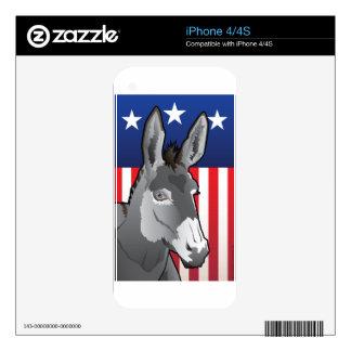 USA Donkey, Democrat Pride Decals For iPhone 4