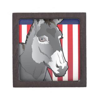 USA Donkey, Democrat Pride Keepsake Box