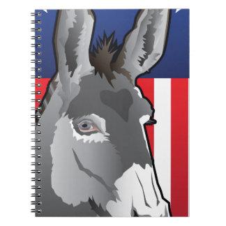 USA Donkey, Democrat Pride Notebook