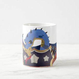 USA Dragon Holding Stars and Stripes Shield Magic Mug