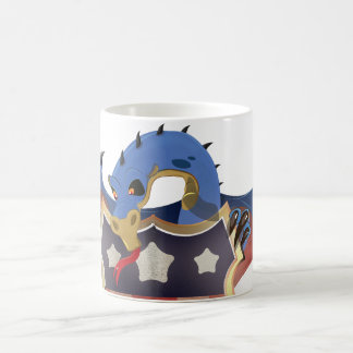 USA Dragon Holding Stars and Stripes Shield 11 Oz Magic Heat Color-Changing Coffee Mug
