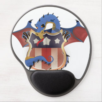 USA Dragon Vintage Shield Gel Mouse Pad