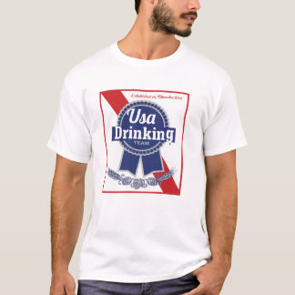 USA Drinking Team blue ribbon PBR T-Shirt
