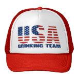 USA Drinking Team Hat Mesh Hat