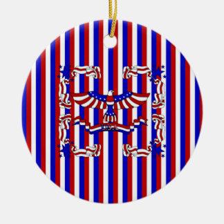 USA Eagle Ceramic Ornament