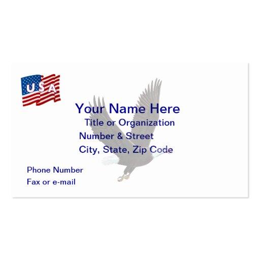 USA Eagle Flag Business Card
