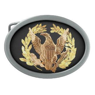 USA Eagle Oval Belt Buckle