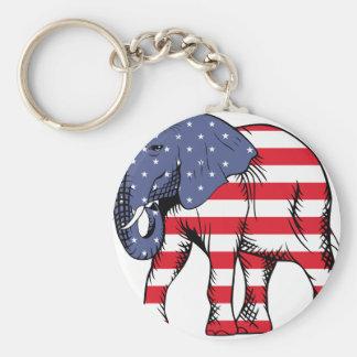 USA Election Elephant  2016 Basic Round Button Keychain
