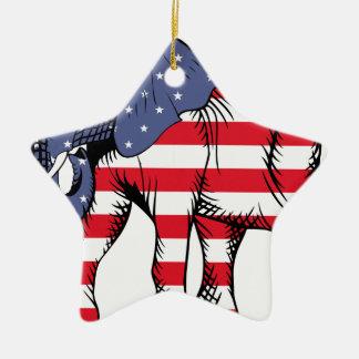 USA Election Elephant  2016 Ceramic Ornament