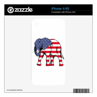 USA Election Elephant  2016 Skin For The iPhone 4S