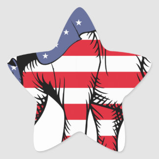 USA Election Elephant  2016 Star Sticker