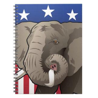 USA Elephant, Republican Pride Notebook