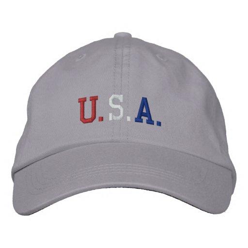 USA EMBROIDERED BASEBALL CAP