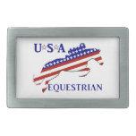 USA Equestrian Belt Buckle