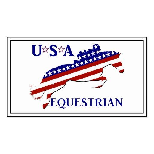 USA Equestrian Business Card Template
