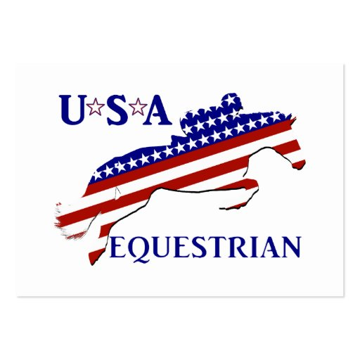 USA Equestrian Business Card Templates