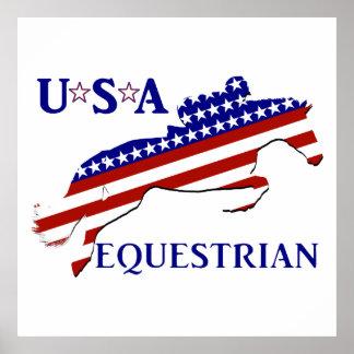 USA Equestrian Poster