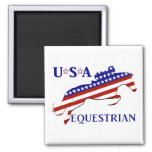 USA Equestrian Refrigerator Magnets
