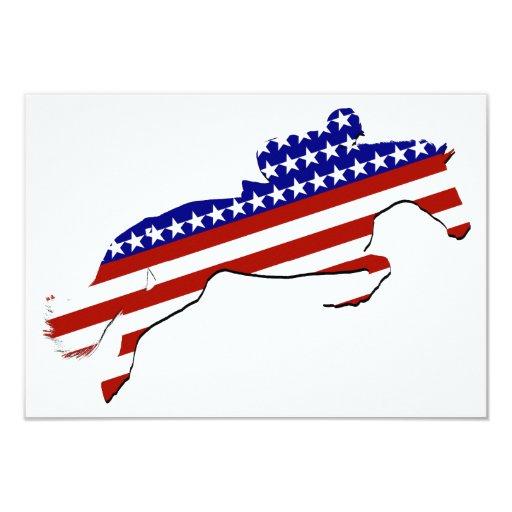 """USA Equestrian Rider 3.5"""" X 5"""" Invitation Card"""