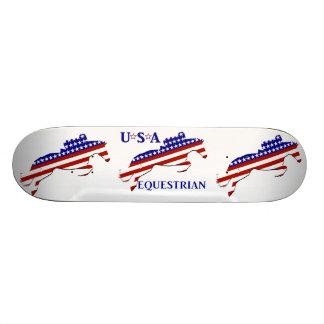 USA Equestrian Skateboard Deck