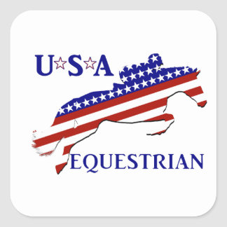 USA Equestrian Square Sticker
