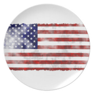 Usa faded flag plate