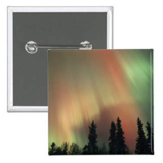USA, Fairbanks area, Central Alaska, Aurora 3 Pinback Button