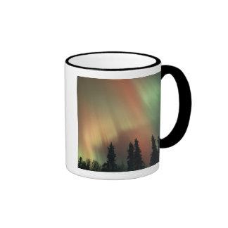 USA, Fairbanks area, Central Alaska, Aurora 3 Ringer Mug