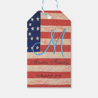 USA Family Reunion Monogram Gift Tags