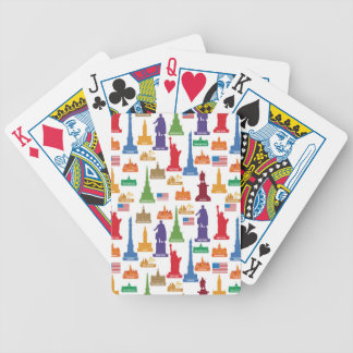 USA Famous City Bicycle Playing Cards