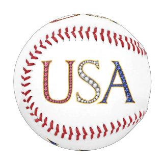 USA Faux Jewels Baseball