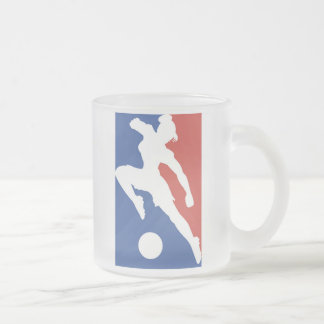 USA Female Soccer Tshirts and Gifts Frosted Glass Coffee Mug