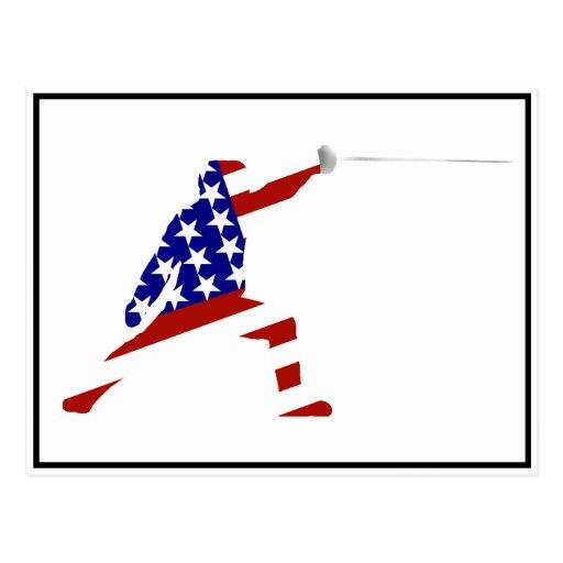 USA Fencing Fencer Postcard
