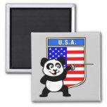 USA Fencing Panda Fridge Magnet