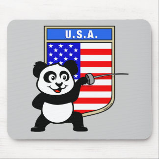 USA Fencing Panda Mouse Pad
