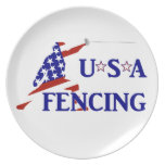 USA Fencing Party Plate