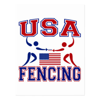 USA Fencing Postcard