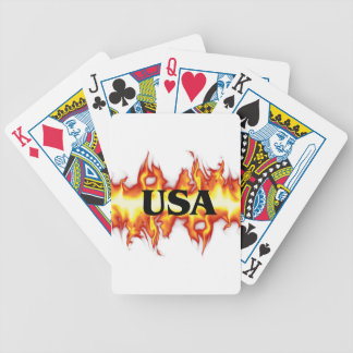 USA-Fire Bicycle Playing Cards