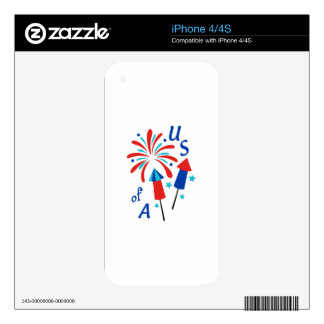 USA Fireworks iPhone 4S Decal