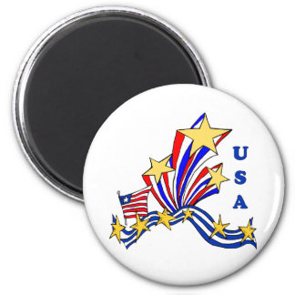 USA Fireworks 2 Inch Round Magnet