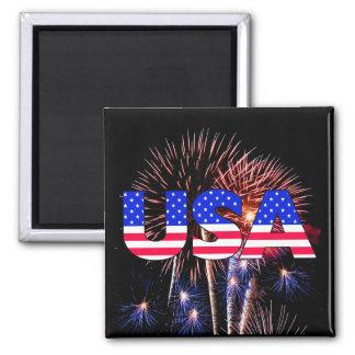 USA Fireworks Magnet